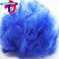 Dope Dyed Blue Recycled Polyester Fiber 3Dx76mm for Nonwoven