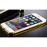 College students most favorite Luxury 24K Gold Electroplating cases Aluminum Alloy with Acrylic mirr