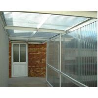 6mm transparent hollow pc sheet for sun house