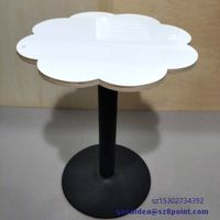 Sublimation Coating blank dye printable Flower shape wooden dining table