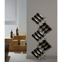 Wine Rack in Transparent Plastic Italian Design Racks & Holders