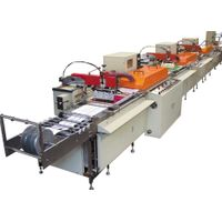 Multi-Color Silk Screen Satin Ribbon Care Label Printing Machine