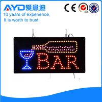 Indoor advertising rectangle led bar sign flash led window sign