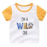 Fashion printed 100% cotton kids clothes short sleeve boys t-shirt thumbnail image