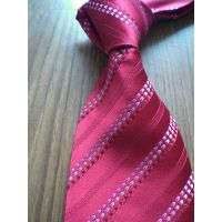 Red Stripe Woven Men Tie