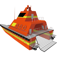 Dual-hull high sea state rescue unmanned surface vessel USV boat