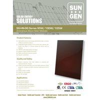 Amorphous thin film silicon solar panel