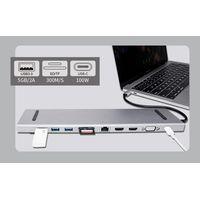 USB C Docking Station 11 in 1 3USB 3.0 2HDMI VGA TF SD RJ45 Audio USB-C thumbnail image