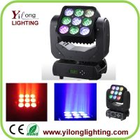 Matrix 9PCS Cree moving head,4in1 RGBW moving head wash,dmx512 stage light