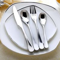 China stainless steel flatware set knife spoon and fork