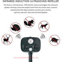 Ultrasonic Animal Repeller Waterproof Solar Repellent with PIR Sensor for Dog, Cat, Squirrel thumbnail image