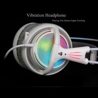 Xibter 7.1 Sound Headphone Rainbow Neon Light Gaming Headset For PC Gamer Allstar Game Video