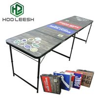 High Quality Aluminum Folding All Black Frame Outdoor Furniture Beer pong Table