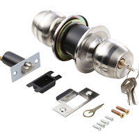 High Quality Stainless Steel Finish Knobset Commercial Entry Door Knob Lock thumbnail image