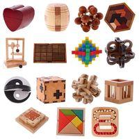 Wooden burr puzzle wooden toys