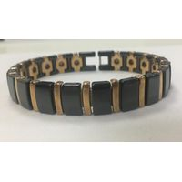 Adjustable black rose gold bio germanium ceramics magnetic bracelet