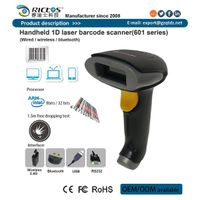 Handheld wired 1D laser barcode scanner for retail system
