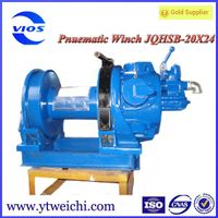air powered winch for drilling platform