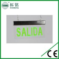 Spanish SALIDA emergencia led sign light