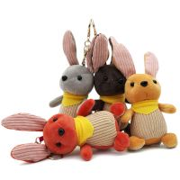 Custom plush rabbit keychain toys factory in China
