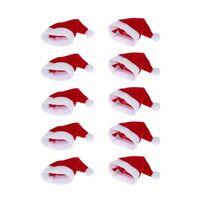 mini santa hats for bottle decoration thumbnail image