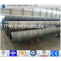 SSAW Hot Rolled Water Pipe Line Large Diameter Spiral Black Welded Steel Pipe thumbnail image