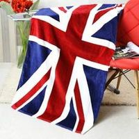 Cotton Beach Towel With Flag Printed