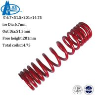 6.7×51.5×201×14.75 Motorcycle back shock absorber spring