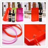Clear Transparent Wedding Party Christmas Plastic PP PVC Gift Promotion Shopping Carrier Bags
