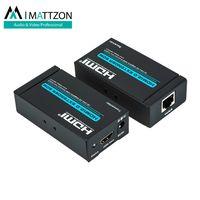 Mattzon V2.0, 4k@60hz no latency hdmi extender 60m, over single lan, Cat5e/6, imported chipset thumbnail image