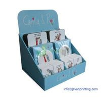 Blue Greeting Cards Cardboard Counter Display