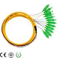 SC APC 12 cores armored 900um single mode fiber optic pigtail thumbnail image