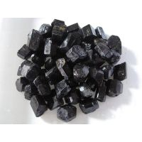 natural raw black tourmaline rough