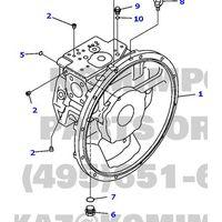 komatsu excavator pc220-7 hydraulic pump 708-2L-00112 main pump thumbnail image