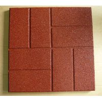 40x40cm brick surface rubber tiles