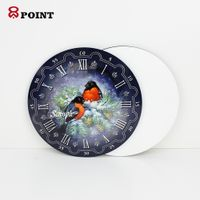 oral Shape wall decor sublimation wooden wall clock