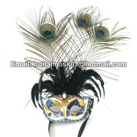 Peacock Feather Mask For Party
