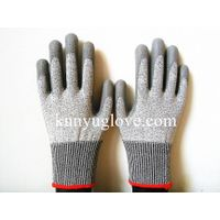 Cut Resistant Glove With PU Palm Coating/ Cut Resistant safety gloves/PU Coated HHPE Cut-Resistant G thumbnail image