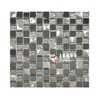 Stainless Steel Metal Mosaic Tiles, Metal Wall and Floor Tiles, Lsmt026.