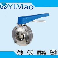 manual clamp type sanitary butterfly valve