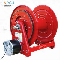 Heavy Duty 115 V AC Motor Driven 100 ft. Hose Reel, Customized Stainless Steel Water Cable Reels thumbnail image