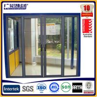 Residential Aluminium Sliding Patio Doors / Sliding Glass Interior Doors Frosted