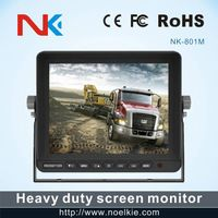 8 inch DC 12-24V lcd monitor with 2 way video input, 2 way audio input thumbnail image