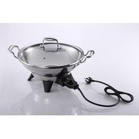 Non-stick coated SUS 304 Stainless steel electric skillet wok