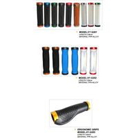 bicycle lock-on grip,TPR bicycle grips, bicycle grips with alloy ring,