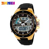 China Supplier Dual Time Plastic Analog Digital Watches Men Wristwatch waterproof sports watch