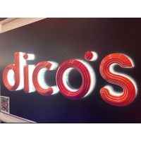 Custom made business advertising backlit led logo sign