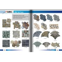 China manufacturer for natural slate stpping stone , random stone