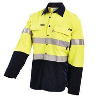 Manufacturer Supply Hi Vis Shirt Two Tone 3m Reflective Safety Work Yellow Hi Vis Work Shirt