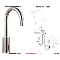 auto sensor taps faucet model :B1015 thumbnail image